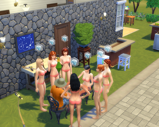 The sims 4 | Bikini Chess