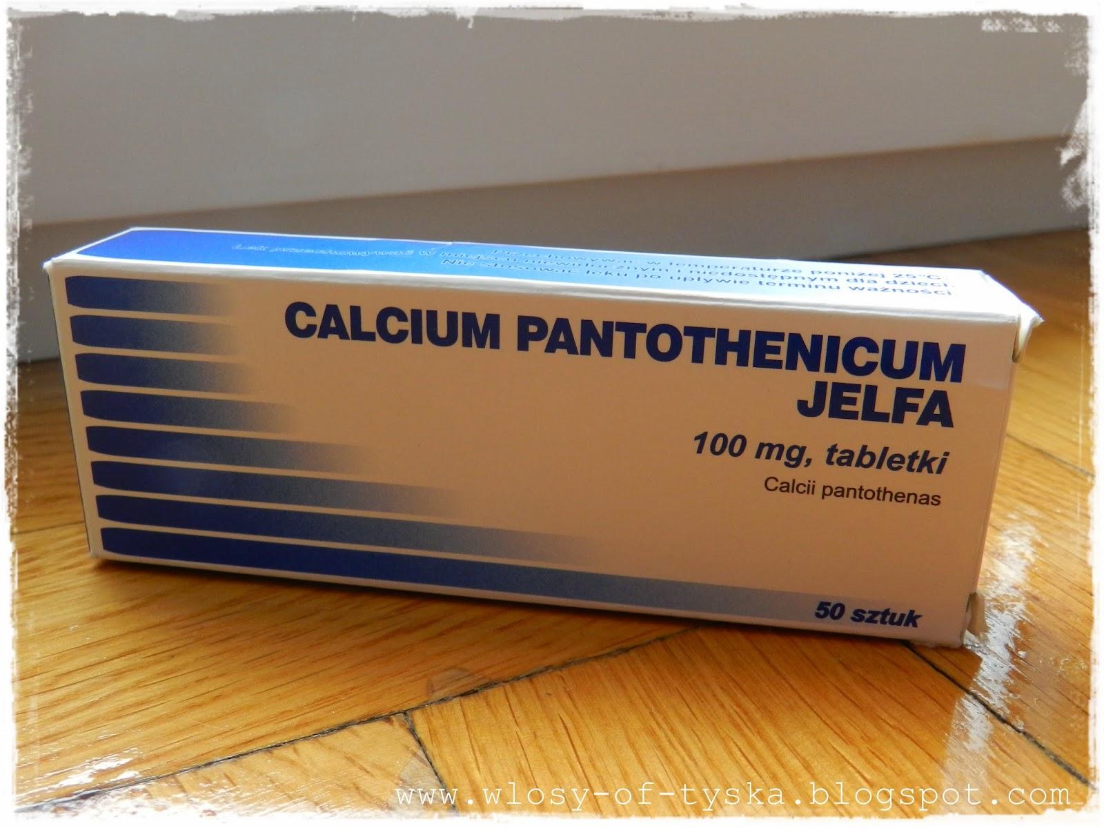 calcium pantothenicum na porost wlosow
