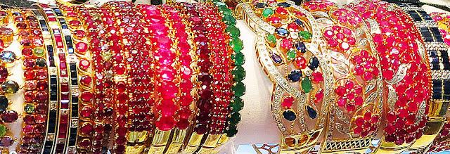 ruby  sapphire bangles