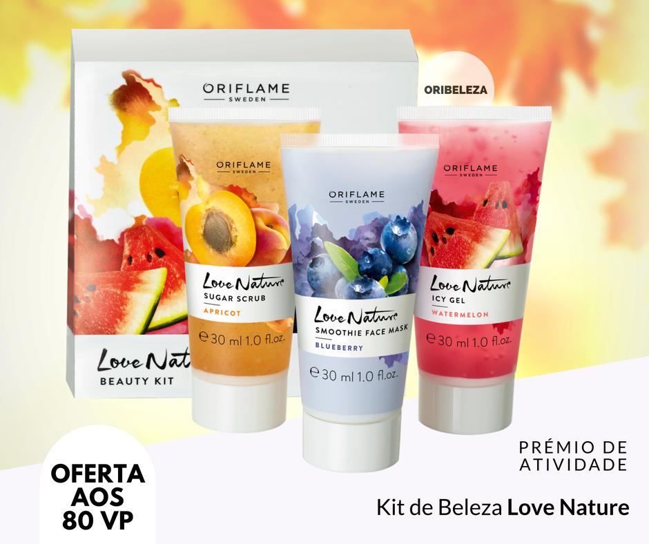 Kit de Beleza Love Nature da Oriflame