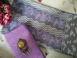 Kain Batik dan Embos 156 Pekalongan motif Mega Mendung Ungu
