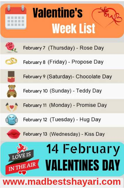 Valentine Day All Day List 2019