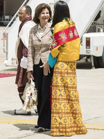 King Gustaf and Queen Silvia of Sweden, King Jigme Khesar Namgyel Wangchuck and Queen Jetsun Pema, Princess Kesang Choden Wangchuck, Princess Ashi Chimi Yangzom Wangchuck in Buthan