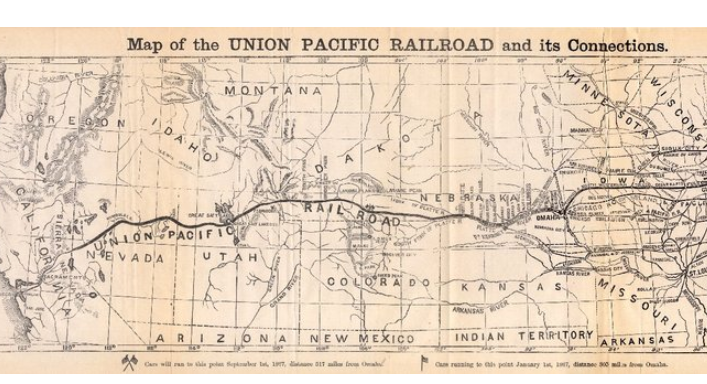 Forgotten Railways, Roads & Places: The Transcontinental ... on galena and chicago union railroad map, rock island railroad map, amtrak map, current united states railroad map, santa fe railroad map, ohio railroad map, chicago, burlington and quincy railroad map, norfolk southern railroad map, great northern railroad map, kansas city southern railroad map, railroad tracks in colorado map, wabash railroad map, burlington northern railroad map, louisiana & arkansas railroad map, b&o railroad map, soo line railroad map, indiana harbor belt railroad map, new york central railroad map, illinois railway museum map, chicago & northwestern railroad map,