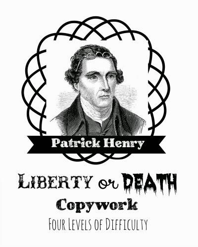 Patrick Henry Copywork