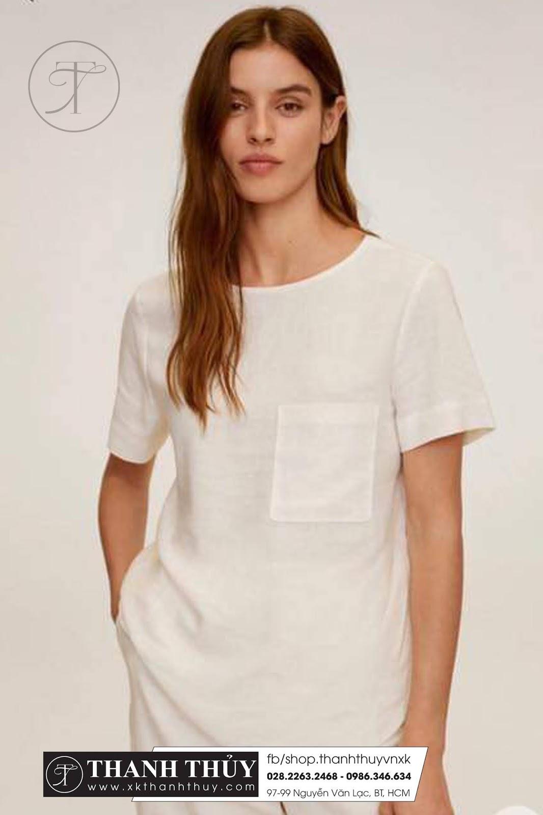 Áo kiểu Linen MNG thời trang ngày hè