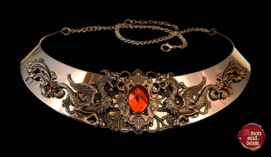 Khaleesi Collier Daenerys Targaryen Bijou Dragon Torque Médiéval Eragon Game of Thrones Bijoux Médiévaux