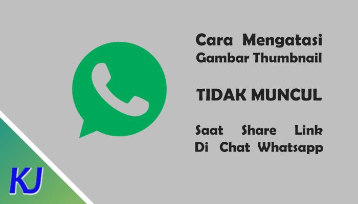 Mengatasi Gambar Thumbnail Tidak Muncul Saat Share di Whatsapp