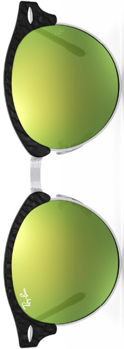 Ray-Ban Clubround Green Mirrored