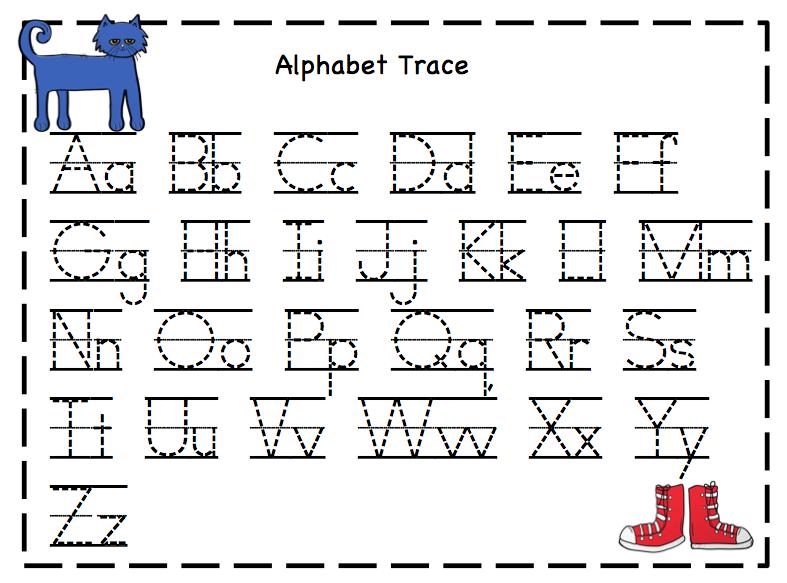 Free Alphabet Tracing Cards for Preschoolers ~ Preschool ...