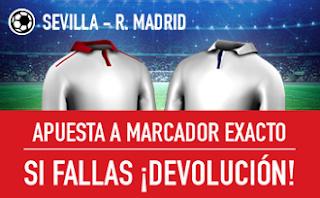 sportium promocion marcador exacto Sevilla vs Real Madrid 15 enero
