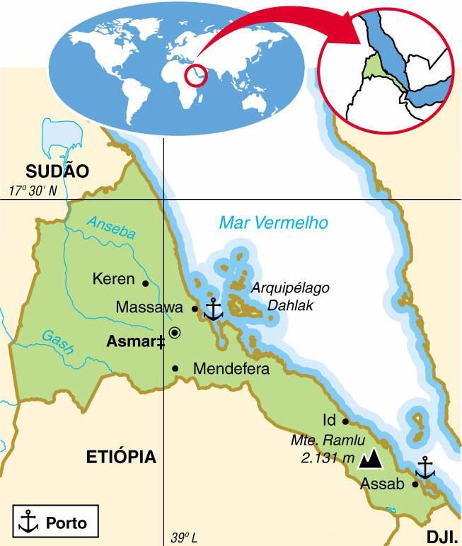 ERITREIA, ASPECTOS GEOGRÁFICOS E SOCIOECONÔMICOS DA ERITREIA