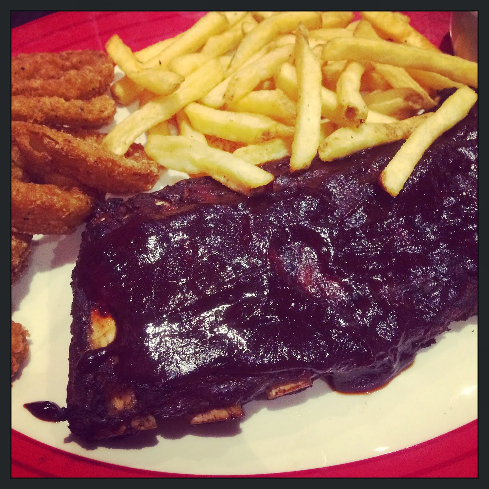 TGI Friday's BBQ ribs
