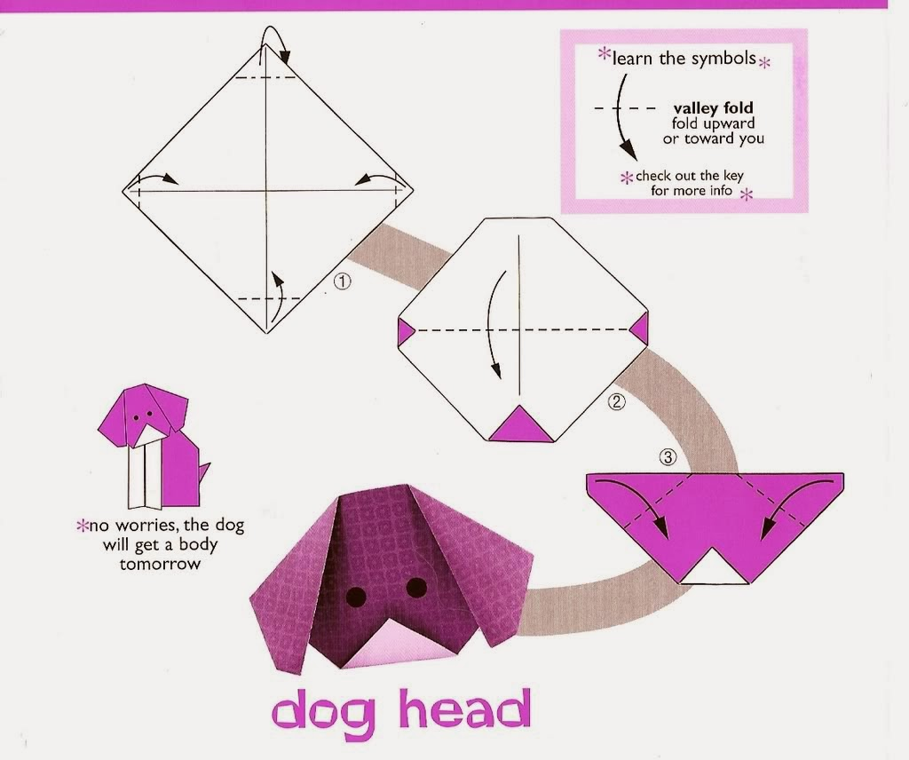 Easy Origami Paper Dog | 856x1024