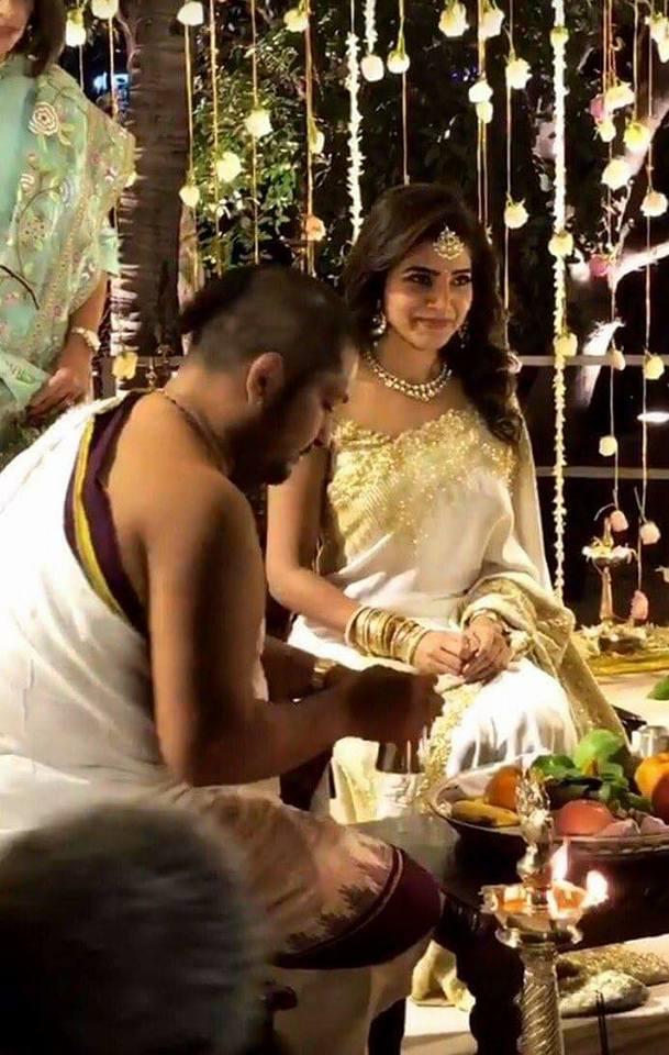 Actor Nagachaitanya Samantha Engagement Photos