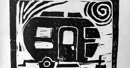 Airstream Block Print Ready to Travel