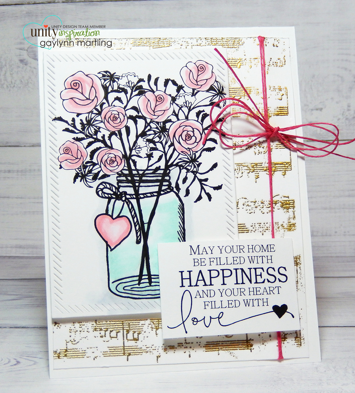 Neat nook creations love and happiness congratulations card here is a pretty way to send a greeting for celebrations it would make a nice congratulations wedding or house warming card kristyandbryce Gallery