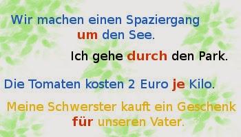 Prepozitia Germana Acuzativ