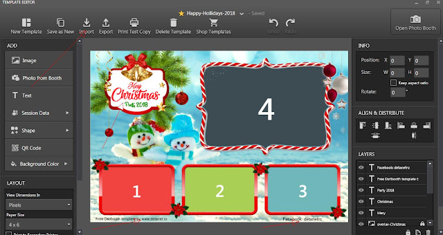 Happy Hollidays  Dsrlbooth template free