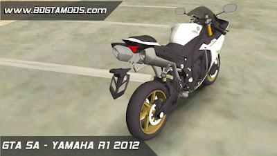 YAMAHA R1 2012 para GTA San Andreas 6
