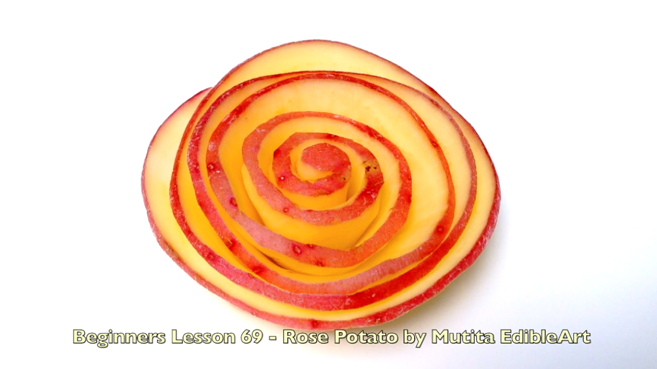 How to Make a Rose Potatoes | Quick Easy Simple Art In ...