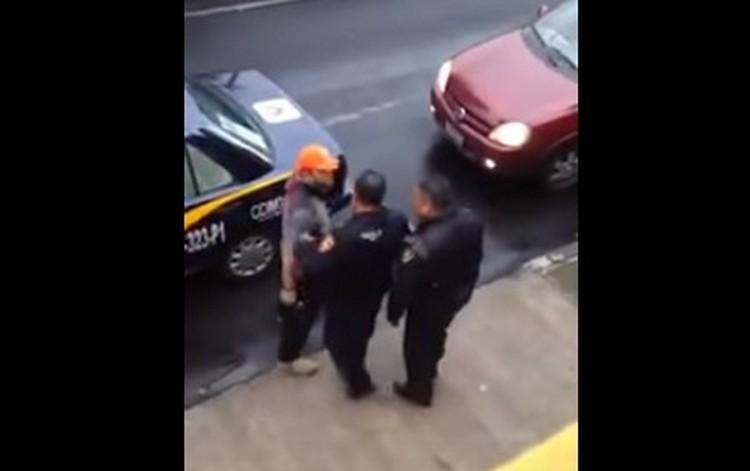 VIDEO; Mayor de la Fuerza Aérea amenaza de muerte con pistola en mano a policía capitalino