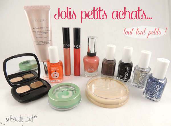 haul beaute bareminerals by terry essie sally hansen rimmel