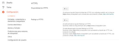 Cambio de HTTP a HTTPS en dominios personalizados de blogger
