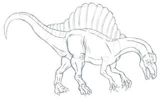 Spinosaurus Coloring Sheet