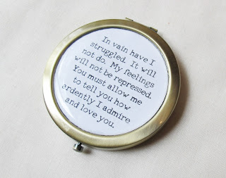image compact mirror literature domum vindemia jane austen pride and prejudice mr darcy in vain have i struggled