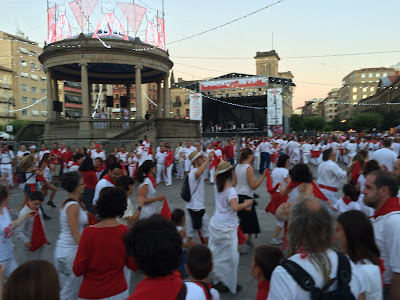 Locals dancing la jota, the traditional dance here
