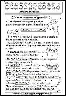 Texto sobre escolas de samba