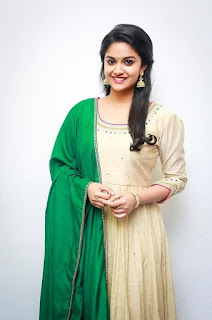 Keerthy Suresh in Wheat Color Dress with Cute and Lovely Smile 2