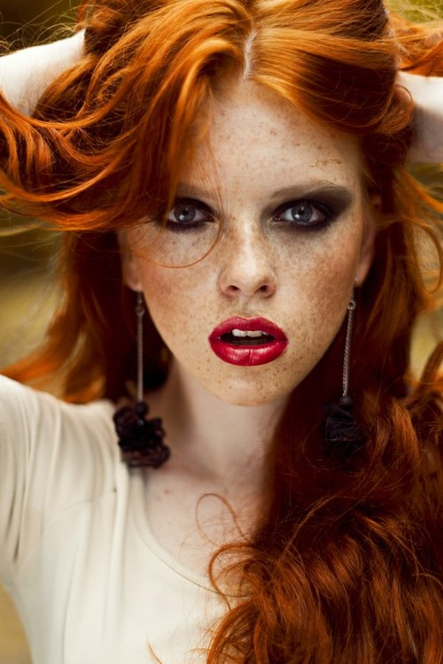 Charming Hot redheads with freckles