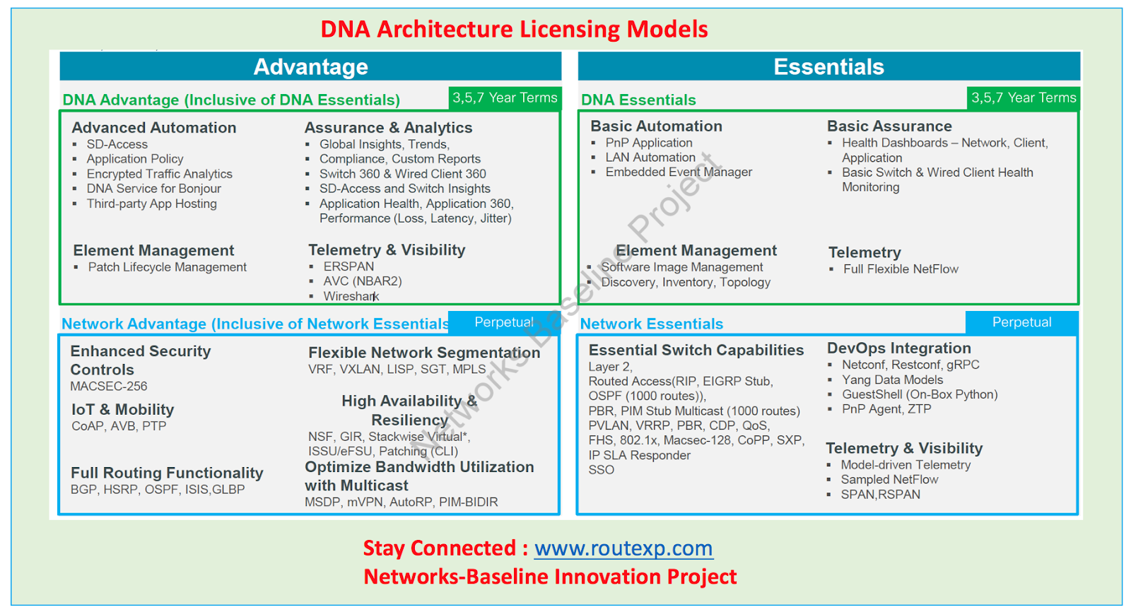 Cisco DNA: Advantage License Vs Essential License - Route XP