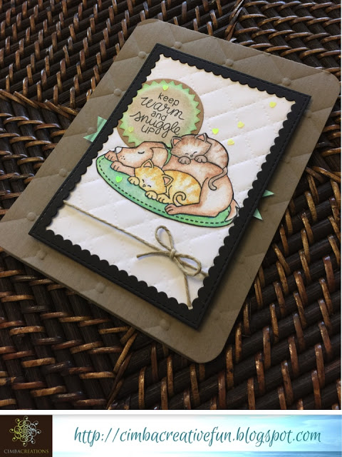 Fan Feature Week  | Snuggly cat and dog card  by cimbacreativefun using Fireside Friends Stamp set by Newton's Nook Designs #newtonsnook