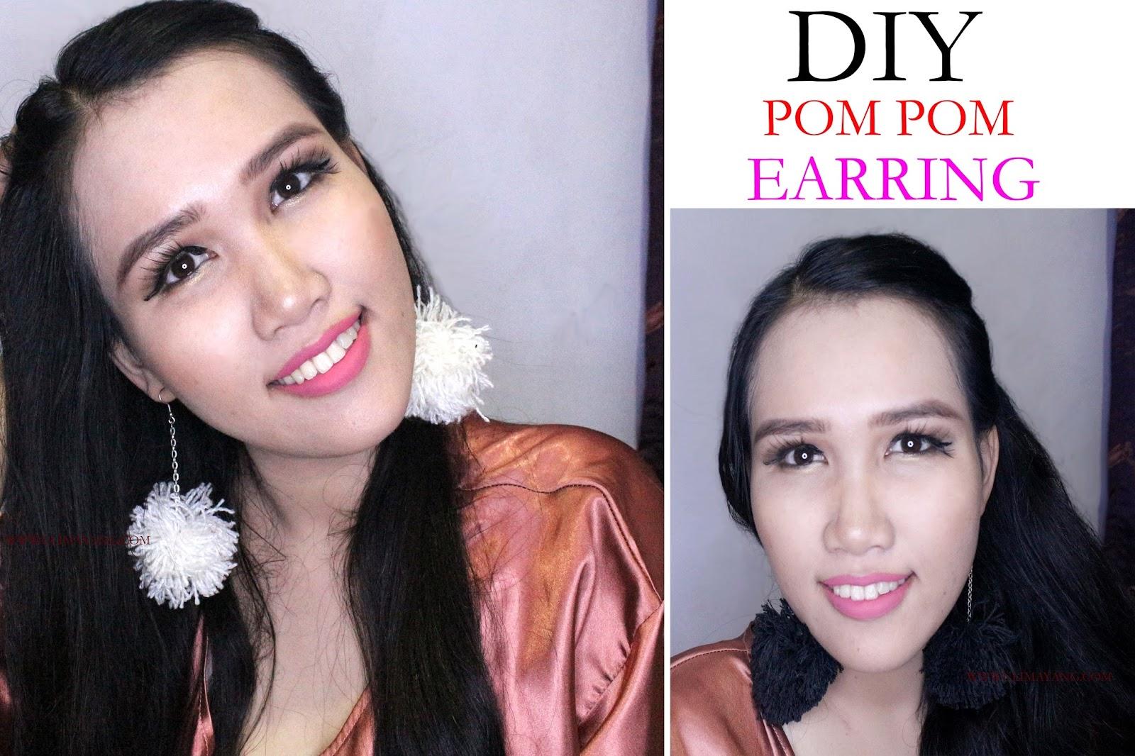 Uli Mayang DIY Cara Buat Anting Pompom Pompom Earring