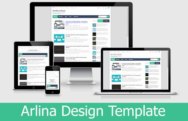 Template Arlina Design Premium Gratis