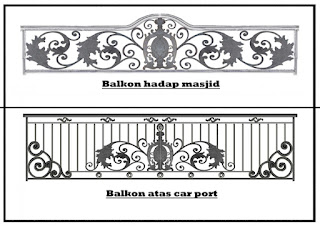 Railing Balkon Besi Tempa Jakarta Timur