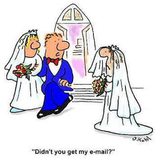 Didn't you get my email - funny wedding cartoon