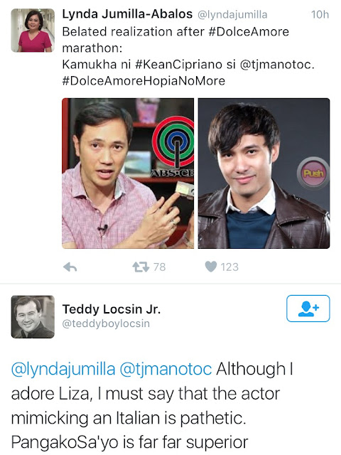 Matteo Guidicelli responds to Teddy Locsin Jr.'s criticism on his Italian accent