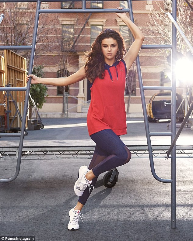 Selena Gomez flaunts her taut abs in new Puma campaign