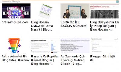 blogger eşleştirilen içerik