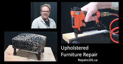 How to reupholster a chair / upholstered furniture repair