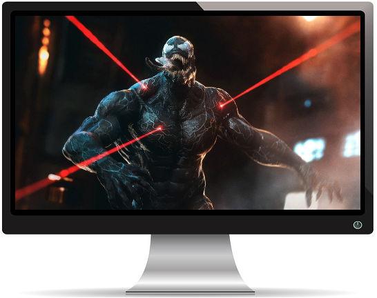 Venom Lasers Rouges Artwork - Fond d'écran en Ultra HD 4K 2160p
