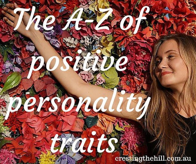 the A-Z of positive personality types