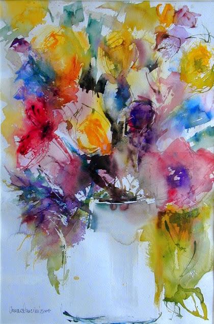 Acquarello vaso di fiori di Vanna Lancini