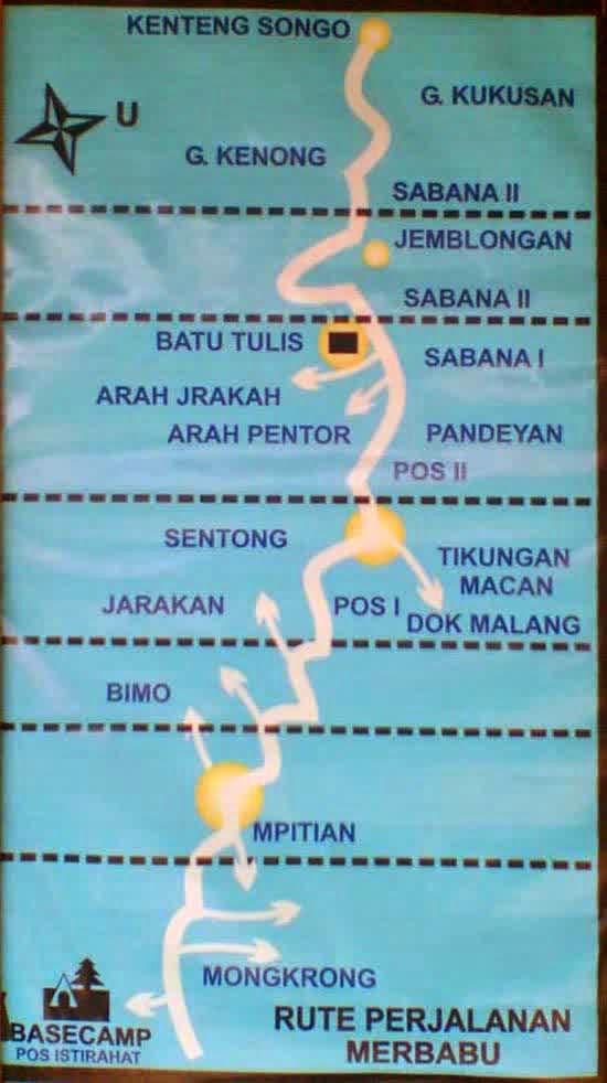 peta Mendaki Gunung Merbabu Via Selo