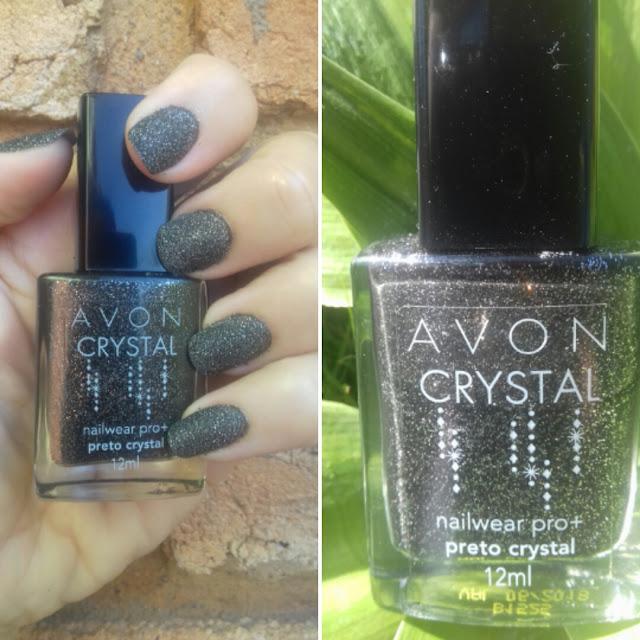 esmalte preto cristal