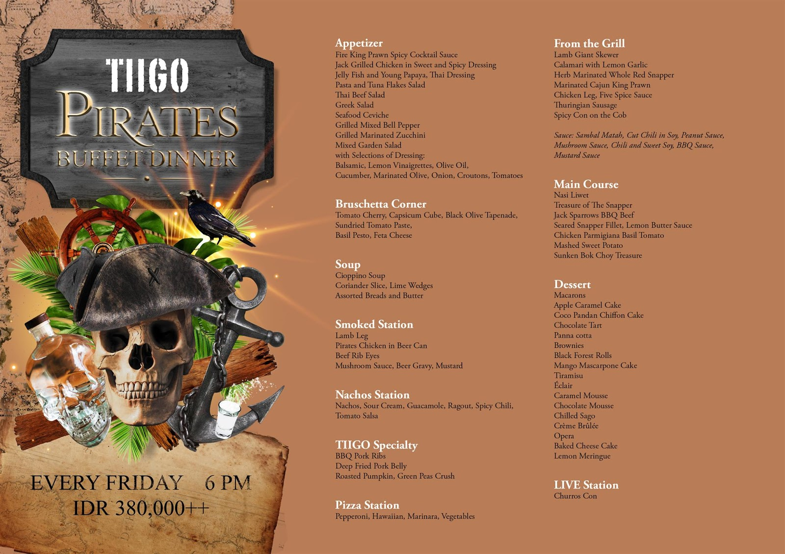 Tiigo Pirates BBQ Night Every Friday at Montigo Resort Nongsa
